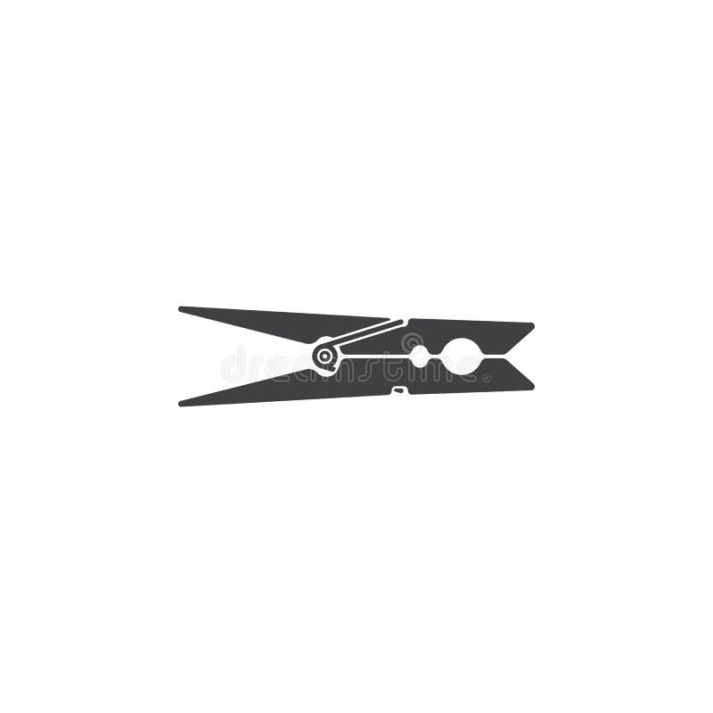 Значок колышка одежд бесплатная иллюстрация