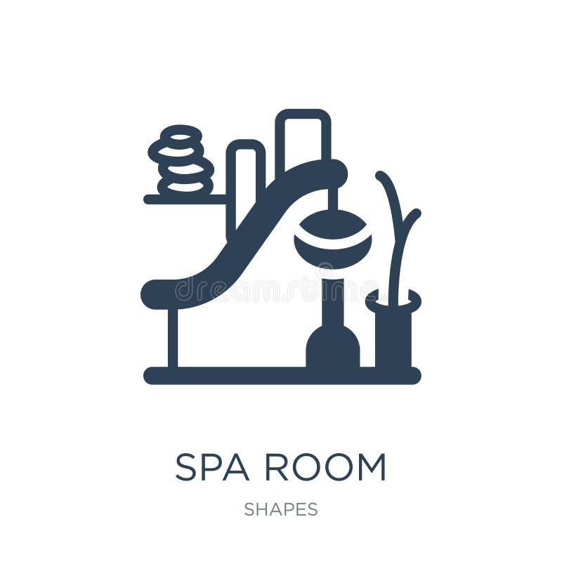 значок комнаты спа в ультрамодном стиле дизайна значок комнаты спа изолированный на белой предпосылке квартира значка вектора ком иллюстрация вектора
