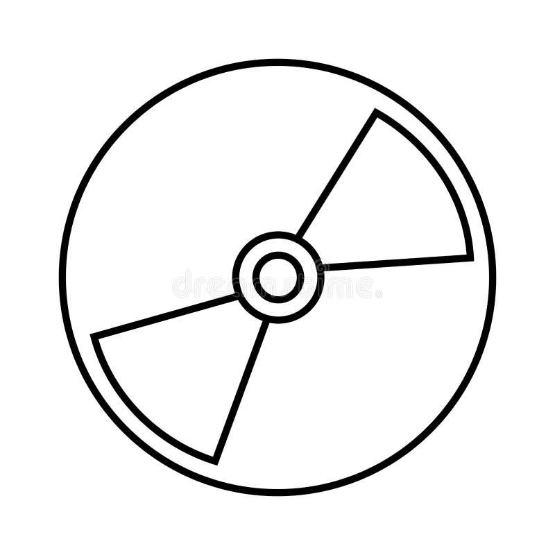 Значок компактного диска изолированный иллюстрация вектора