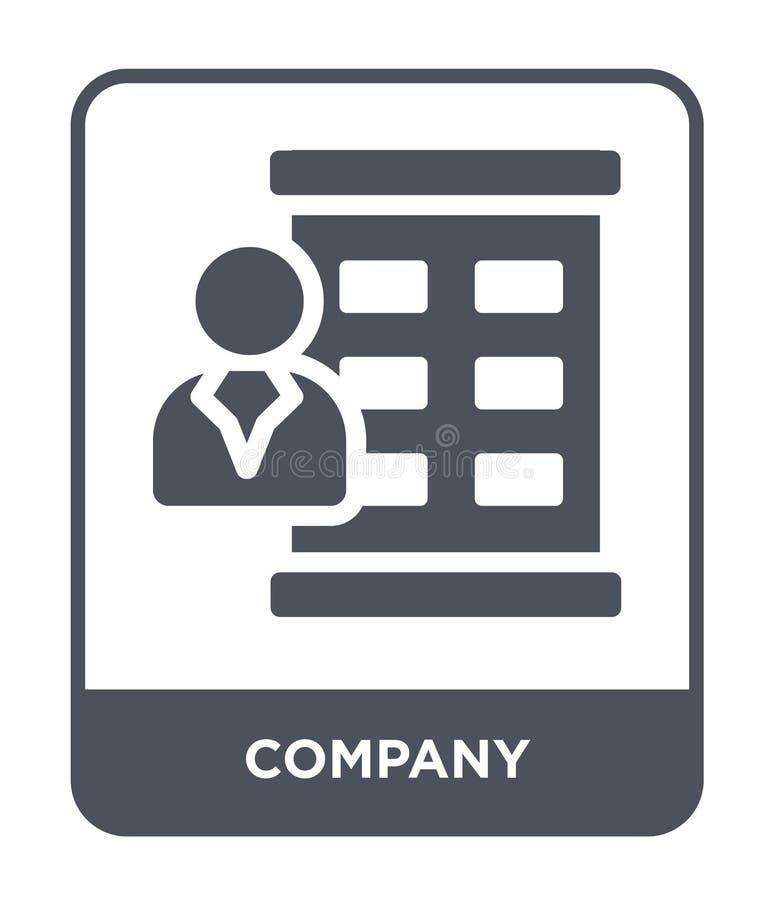 значок компании в ультрамодном стиле дизайна значок компании изолированный на белой предпосылке символ значка вектора компании пр иллюстрация вектора