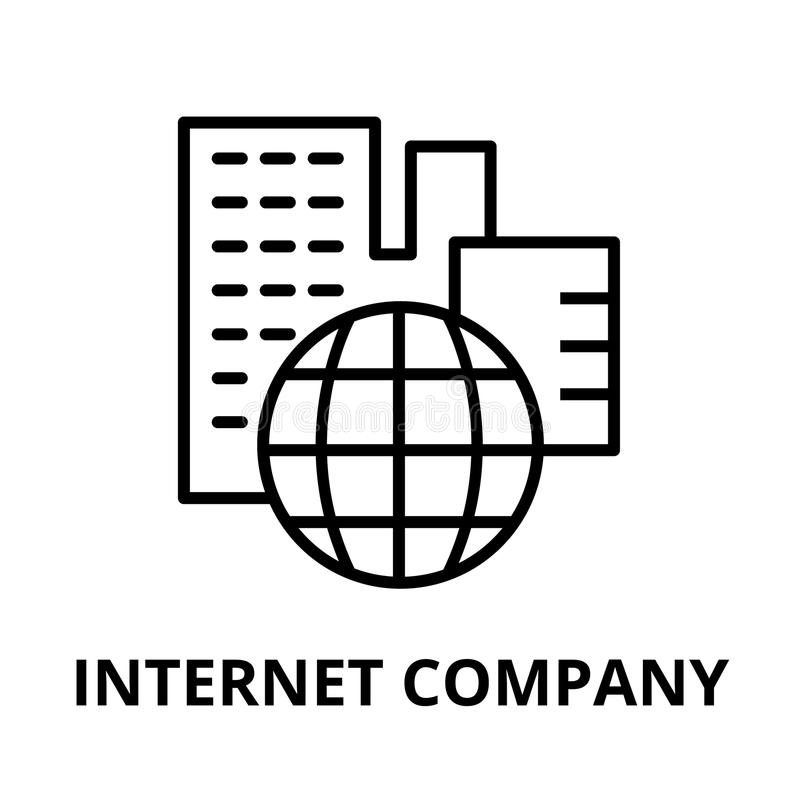Значок компании интернета, для графика и веб-дизайна иллюстрация штока