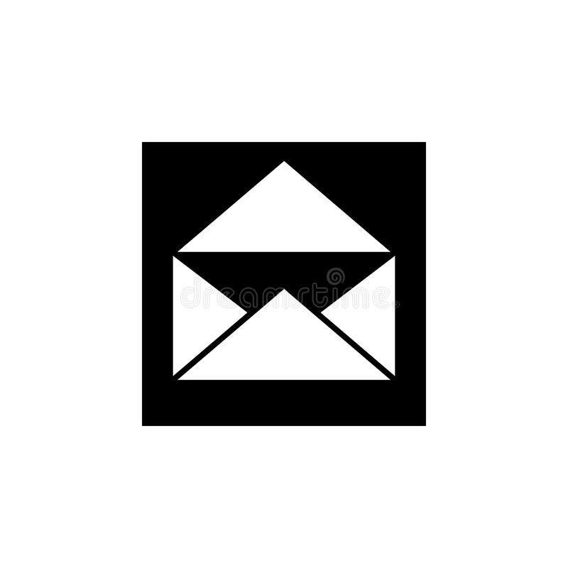 значок конверта открытого письма Элементы новостей и средств массовой информации течь значок Наградной качественный графический д иллюстрация штока