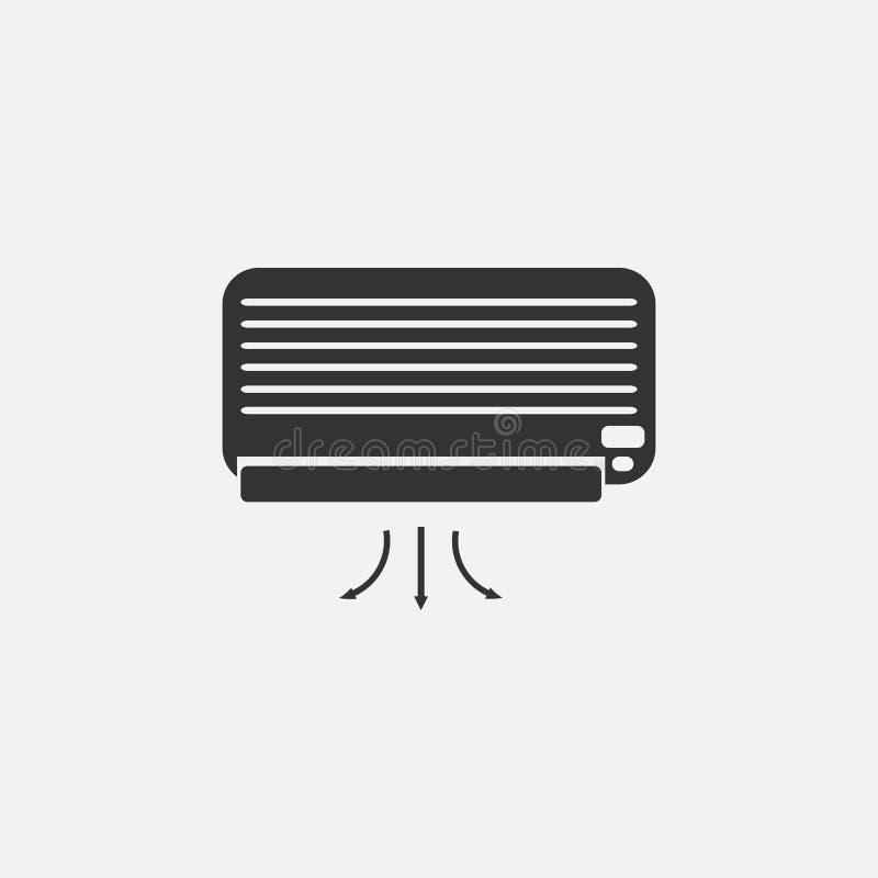 Значок кондиционера, воздух, крутой иллюстрация штока