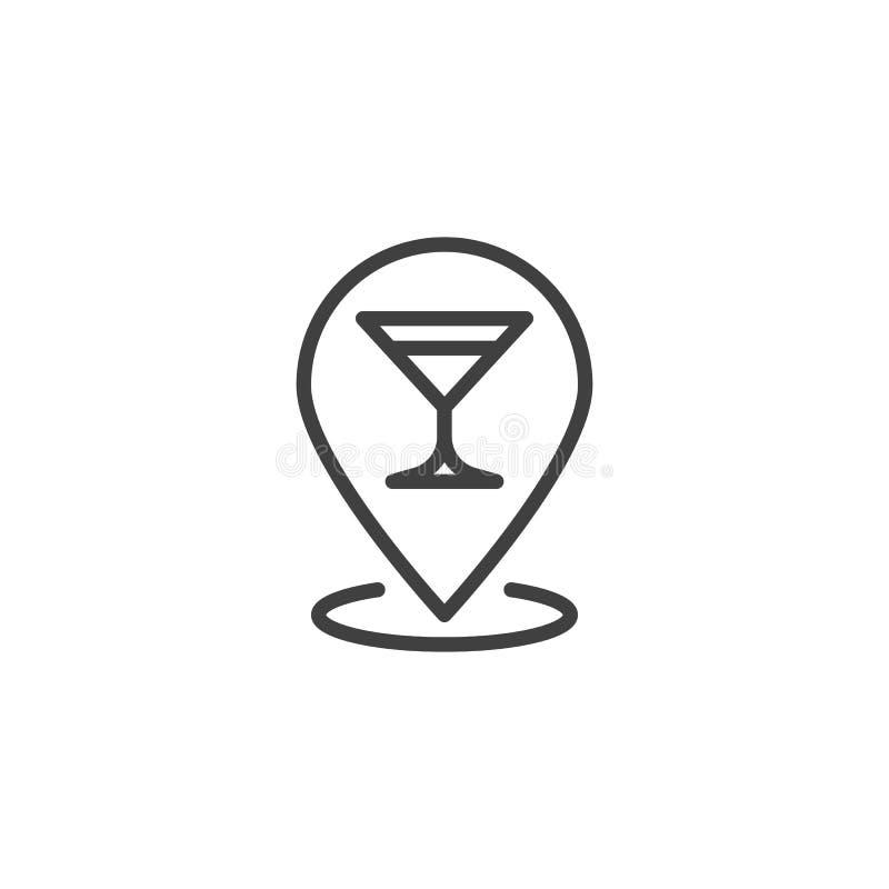 Значок контакта расположения напитков для барбекю бесплатная иллюстрация