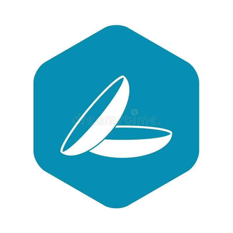 Значок контактных линзов, простой стиль бесплатная иллюстрация