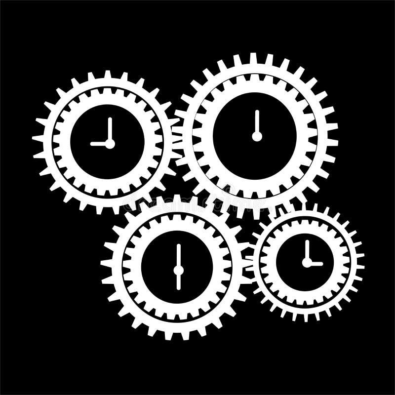 Значок контроля времени владение домашнего ключа принципиальной схемы дела золотистое достигая небо к иллюстрация вектора