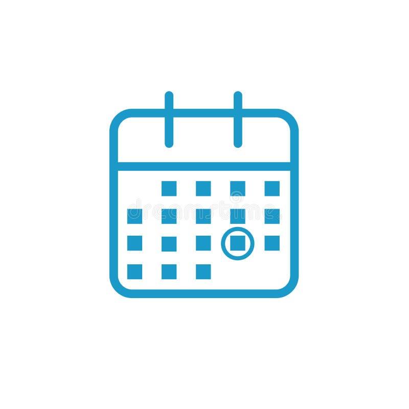 Значок контроля времени и план-графика для предстоящего события иллюстрация вектора