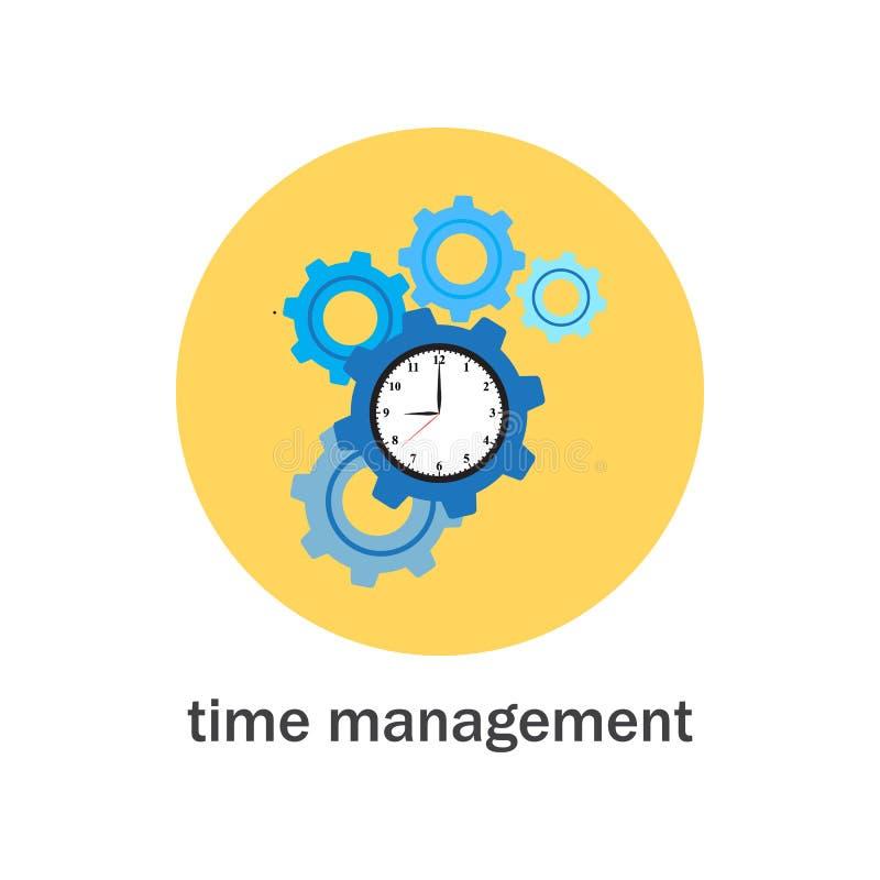 Значок контроля времени иллюстрация штока