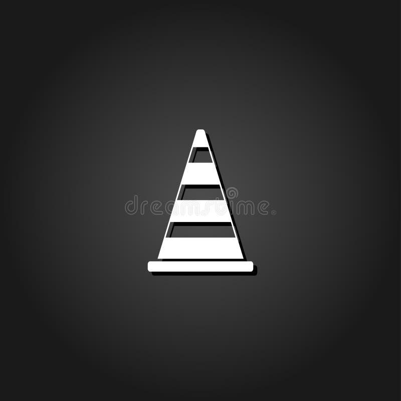 Значок конуса движения плоско бесплатная иллюстрация