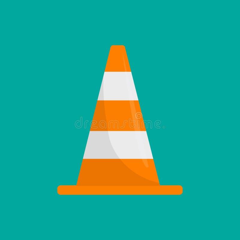 Значок конуса дороги Плоская иллюстрация значка вектора конуса дороги бесплатная иллюстрация