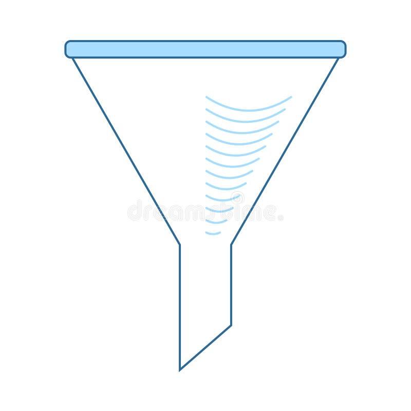 Значок конуса заполнителя химии иллюстрация вектора