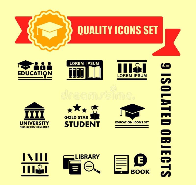 Значок концепции образования установленный с бюрократизмом бесплатная иллюстрация