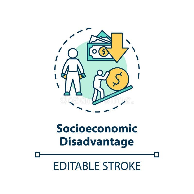 Значок концепции социально-экономического неравенства бесплатная иллюстрация