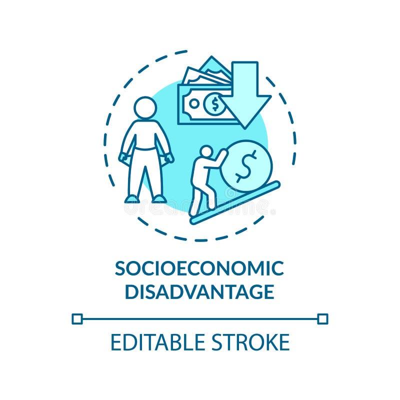Значок концепции социально-экономического неравенства иллюстрация вектора