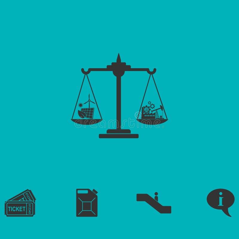 Значок концепции Eco плоско иллюстрация штока