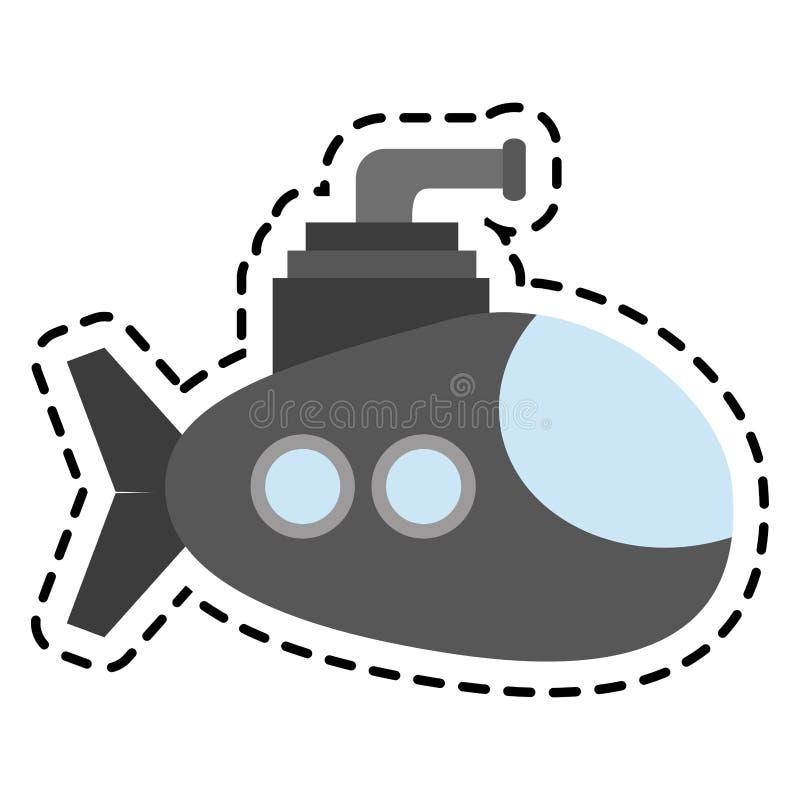 Значок корабля подводной лодки бесплатная иллюстрация