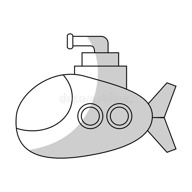 Значок корабля подводной лодки иллюстрация вектора