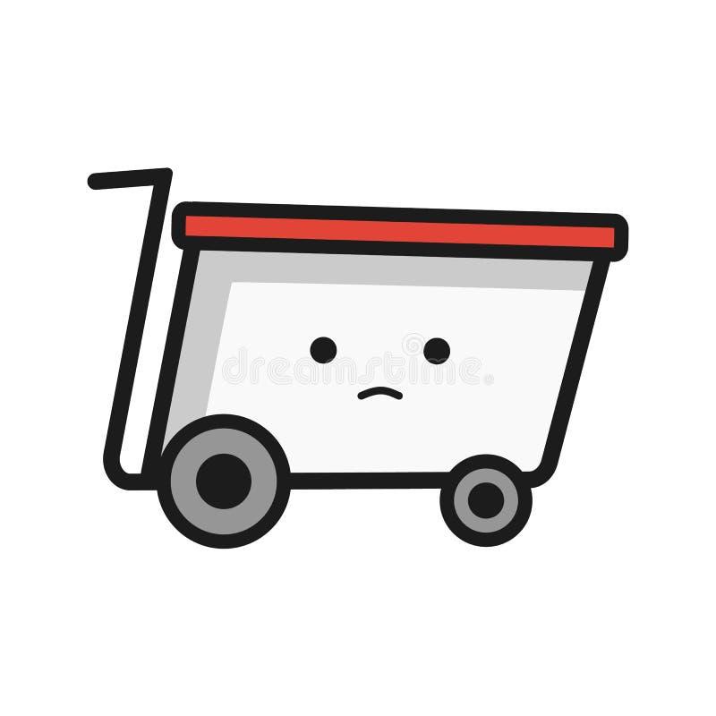 Значок корзины, плоский дизайн бесплатная иллюстрация