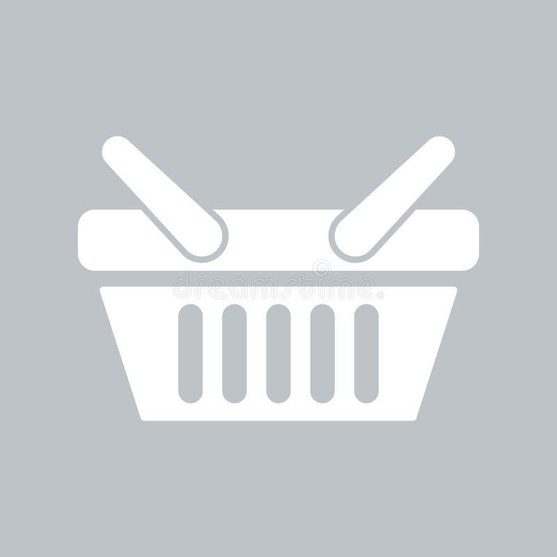 Значок корзин для товаров на серой предпосылке, для любого случая бесплатная иллюстрация