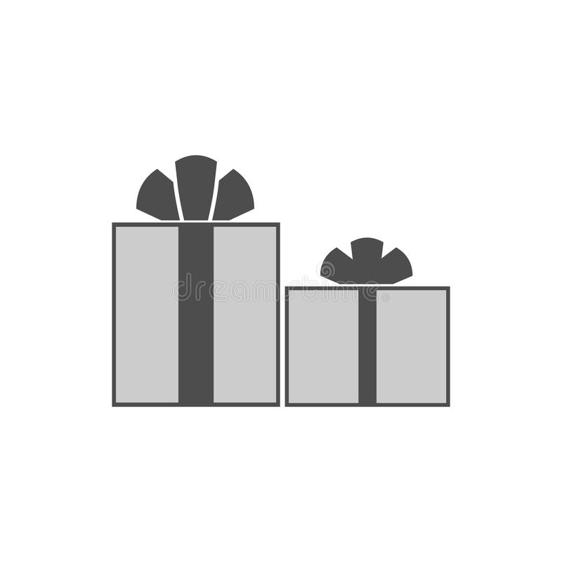 Значок коробки подарков плоский присутствующий бесплатная иллюстрация