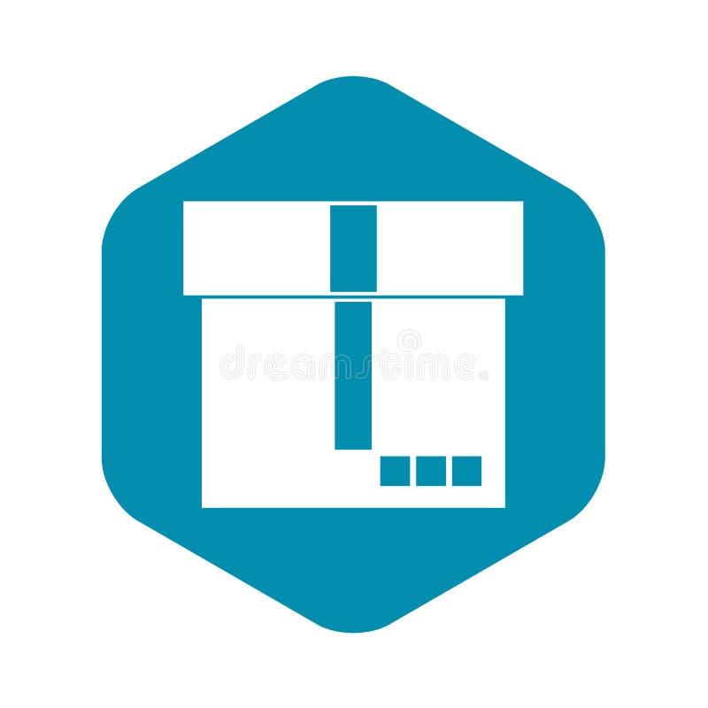 Значок коробки, простой стиль бесплатная иллюстрация