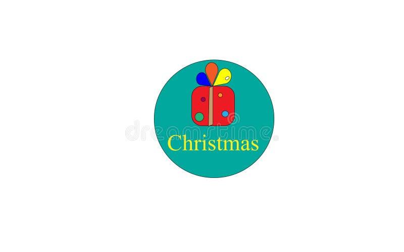Значок коробки рождества стоковые изображения