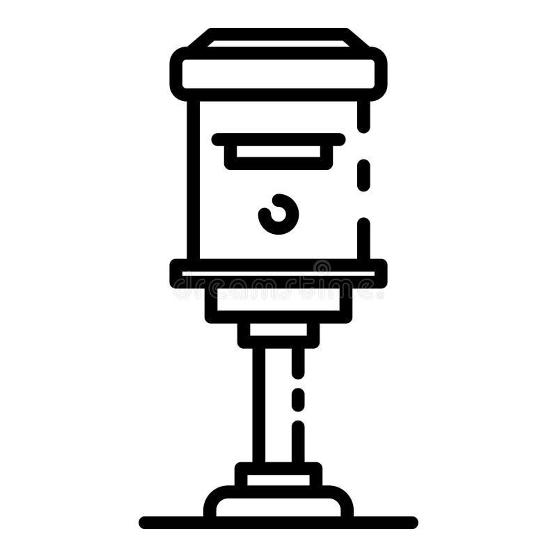 Значок коробки столба квартиры, стиль плана иллюстрация штока