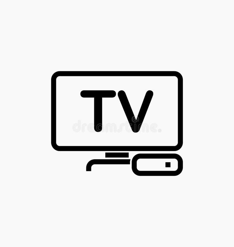 Значок коробки ТВ/IPTV иллюстрация вектора
