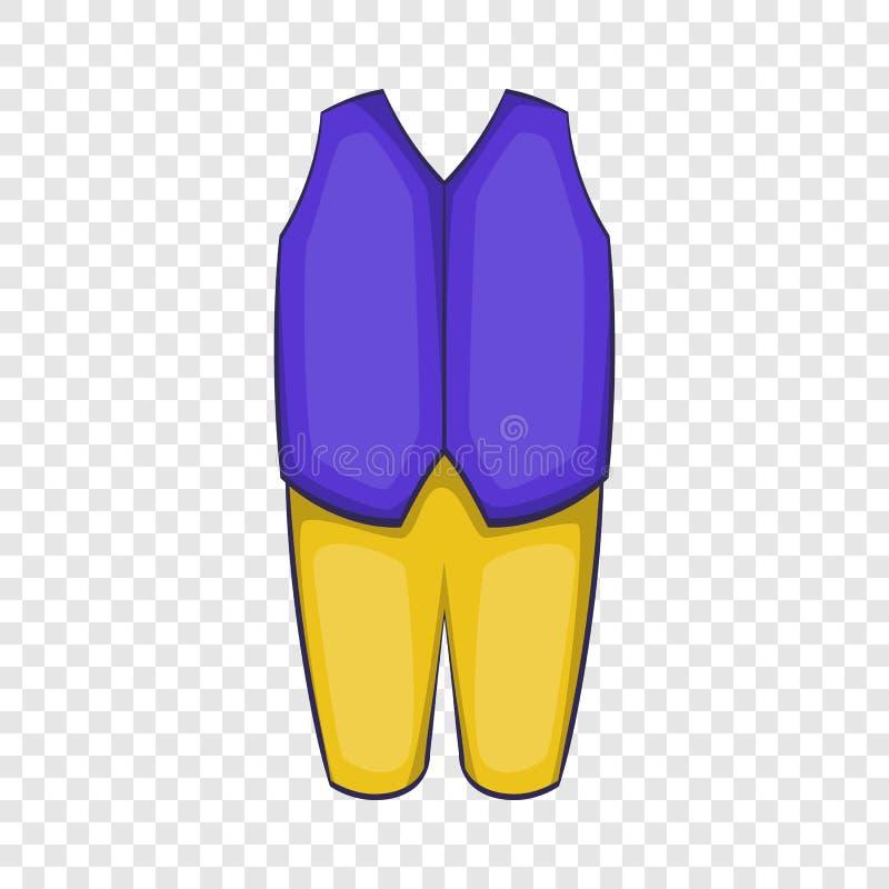Значок костюма Швеции человека традиционный, стиль шаржа иллюстрация штока