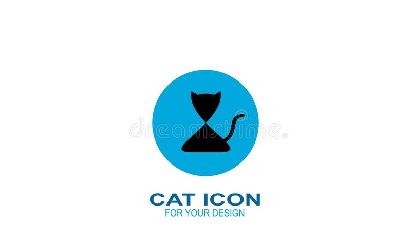 Значок кота, графический дизайн иллюстрации вектора логотипа иллюстрация штока