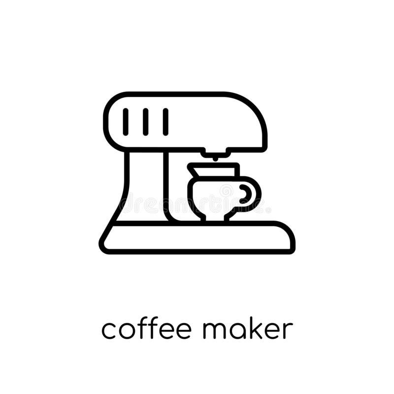 Значок кофеварки от собрания иллюстрация штока
