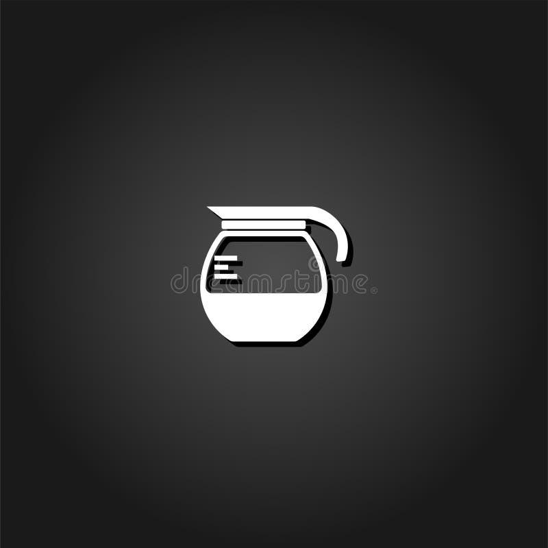 Значок кофеварки плоский иллюстрация штока