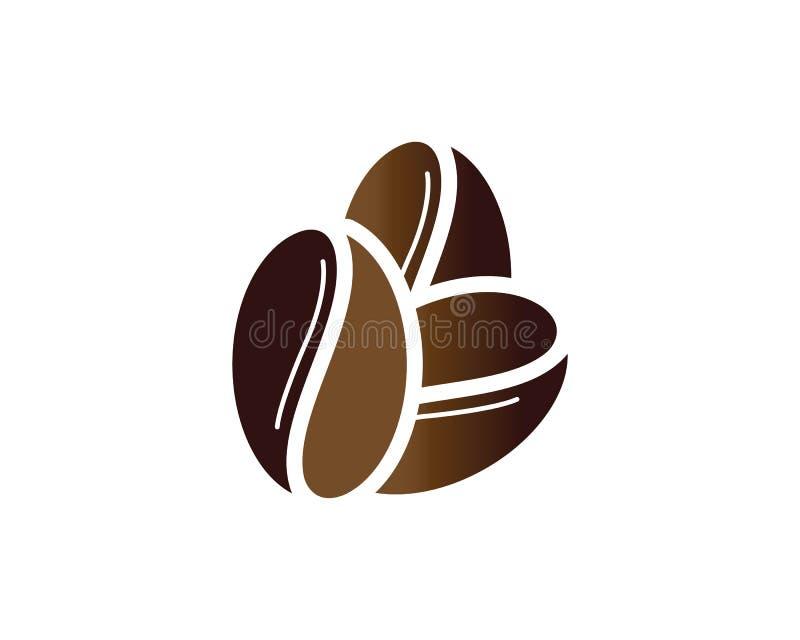 Значок кофейного зерна иллюстрация штока