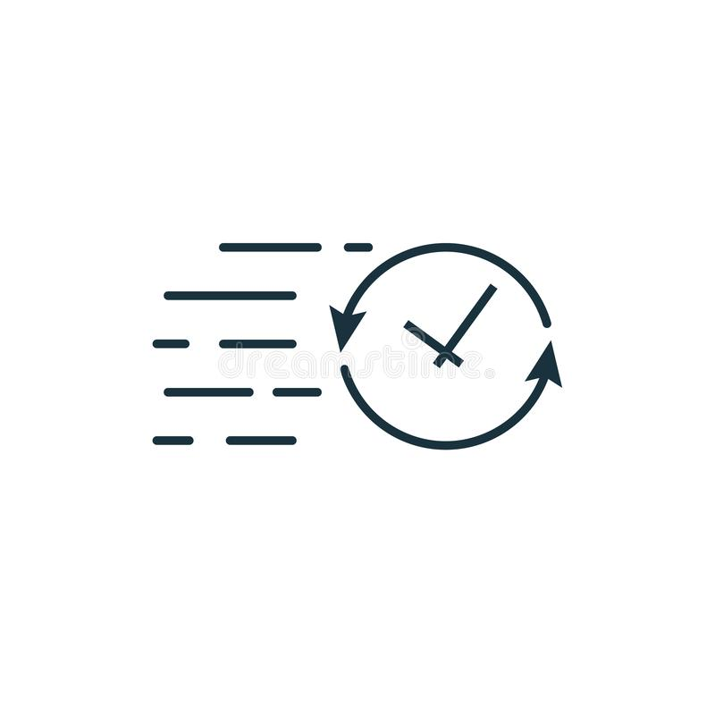 Значок крайнего срока Простой элемент из коллекции значков запуска Значок Creative Deadline ui, ux, apps, software и infographic иллюстрация вектора