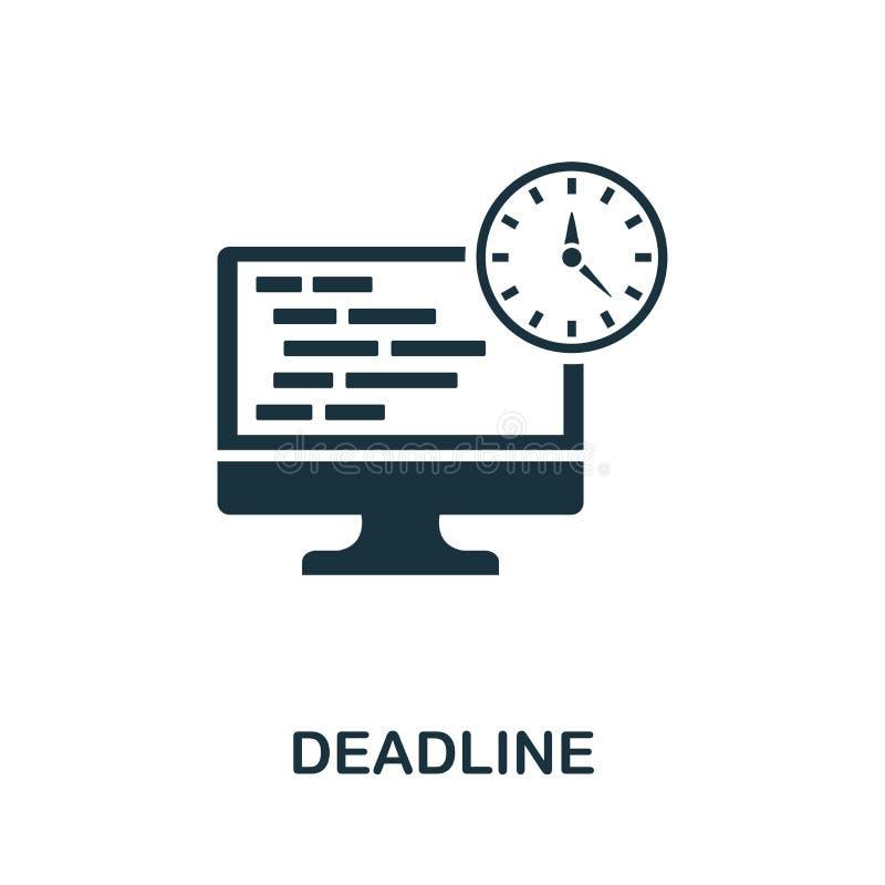 Значок крайнего срока Разработка творческих элементов из коллекции значков программистов Пиксель идеальный значок Deadline для ве бесплатная иллюстрация