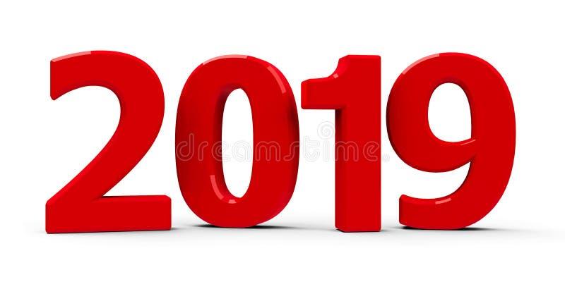 Значок 2019 красного цвета бесплатная иллюстрация
