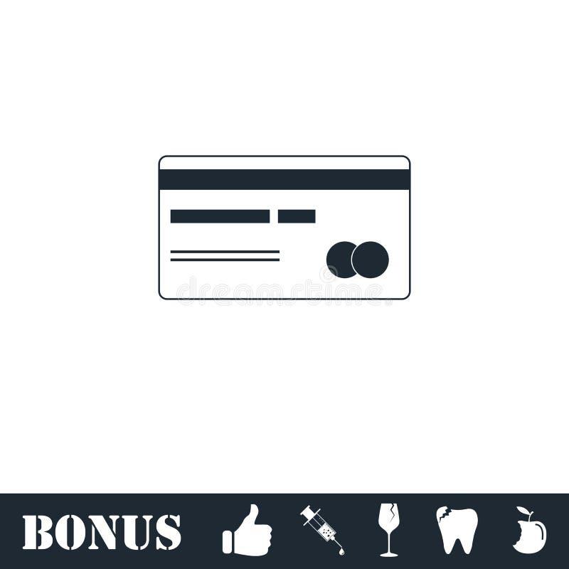 Значок кредитной карточки плоско иллюстрация вектора