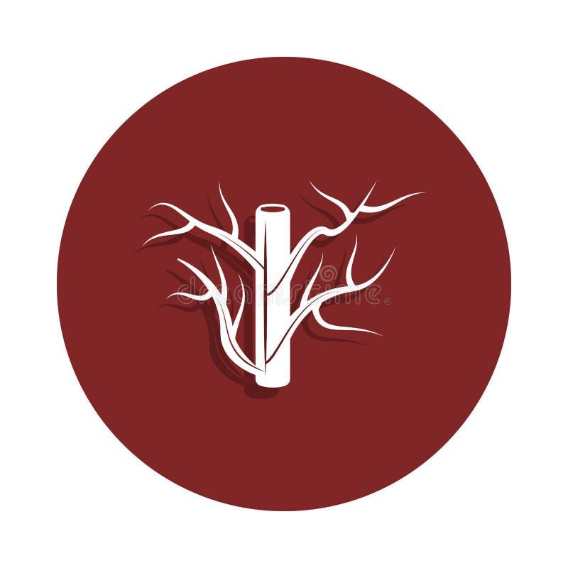 значок кровеносного сосуда в стиле значка Одно значка собрания органа можно использовать для UI, UX иллюстрация вектора