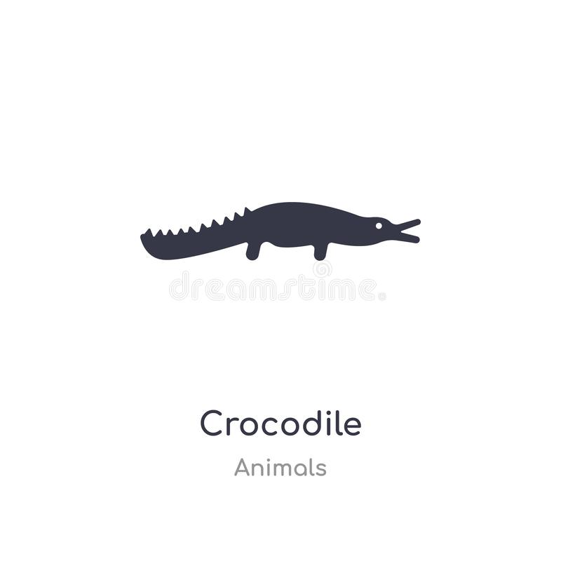 значок крокодила изолированная иллюстрация вектора значка крокодила от собрания животных editable спойте символ смогите быть поль бесплатная иллюстрация