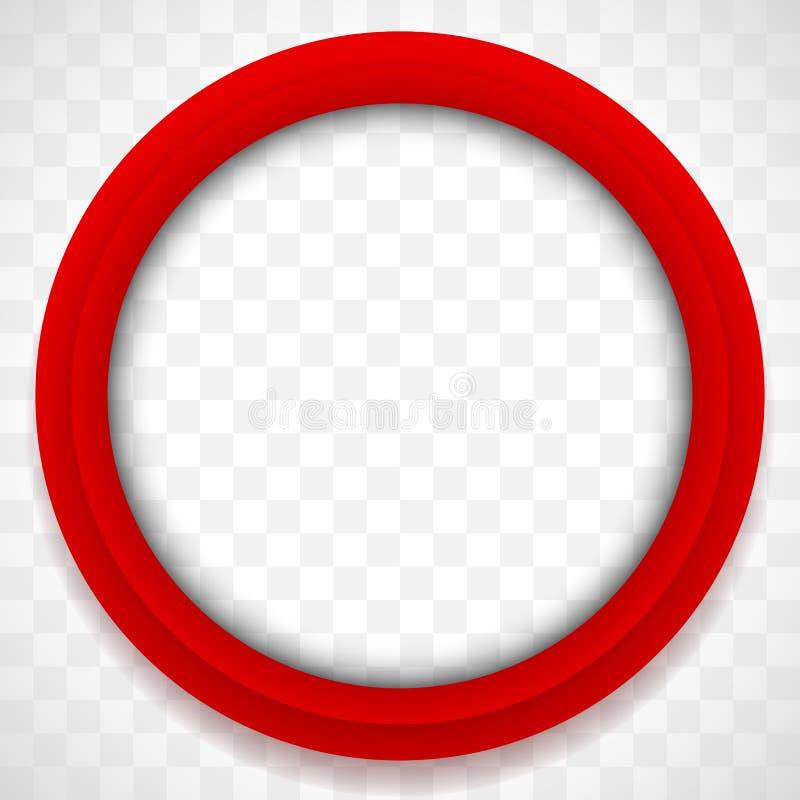 Значок круга Красочная предпосылка значка Абстрактный элемент объектива иллюстрация штока