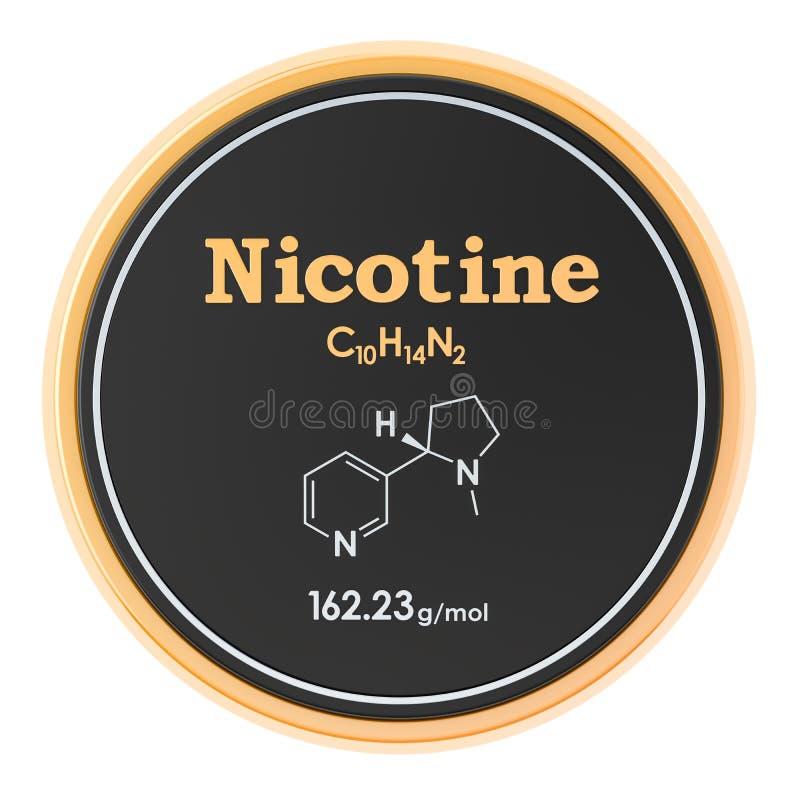 Значок круга никотина, перевод 3D изолированный на белой предпосылке бесплатная иллюстрация
