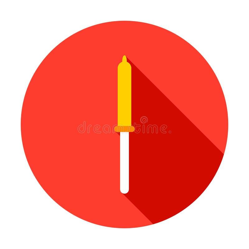Значок круга пипетки иллюстрация вектора
