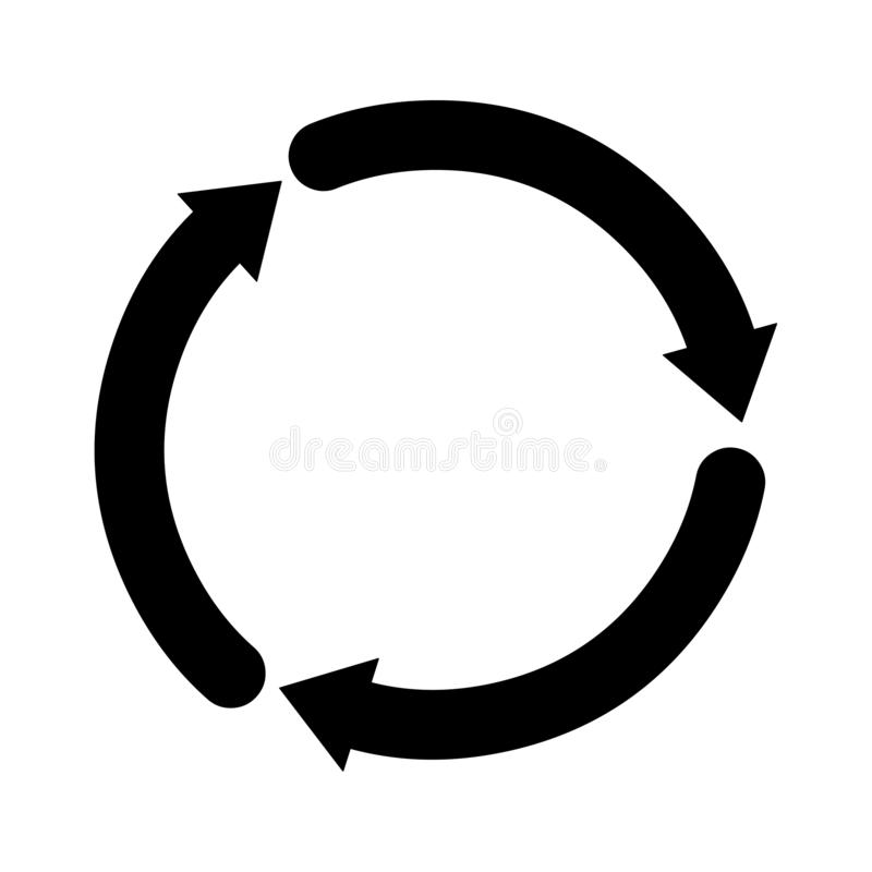 Значок круга Поделенная на сегменты стрелка круга Логотип круга иллюстрация вектора