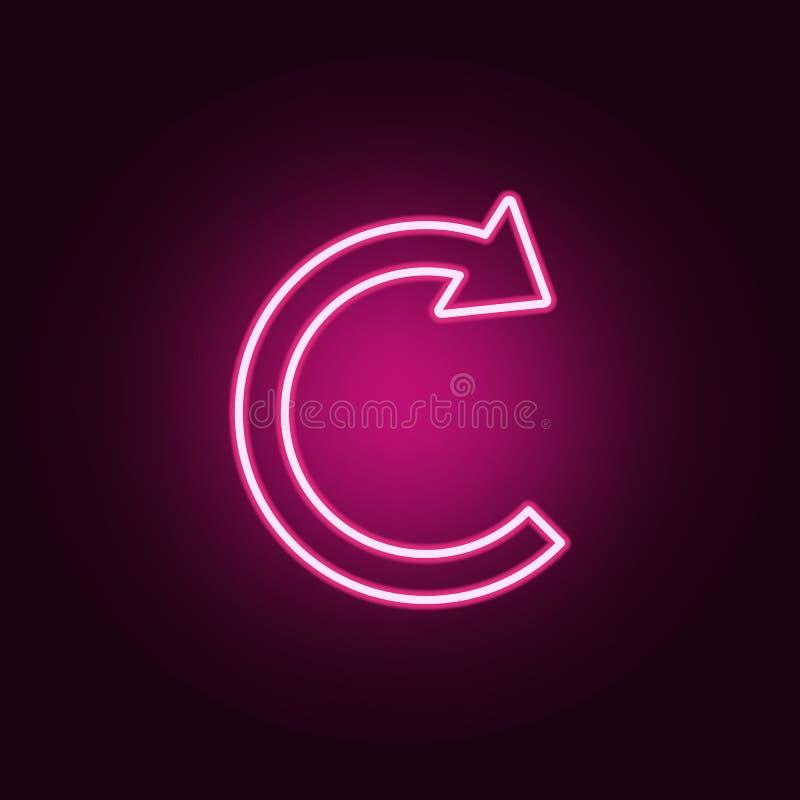 значок круговой стрелки неоновый Элементы набора сети r бесплатная иллюстрация