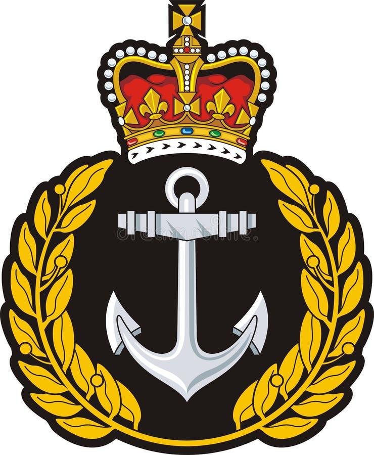 Значок крышки военно-морского флота иллюстрация штока