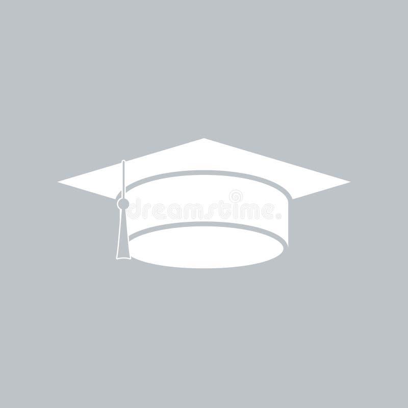 Значок крышки градации плоский на серой предпосылке, для любого случая иллюстрация вектора