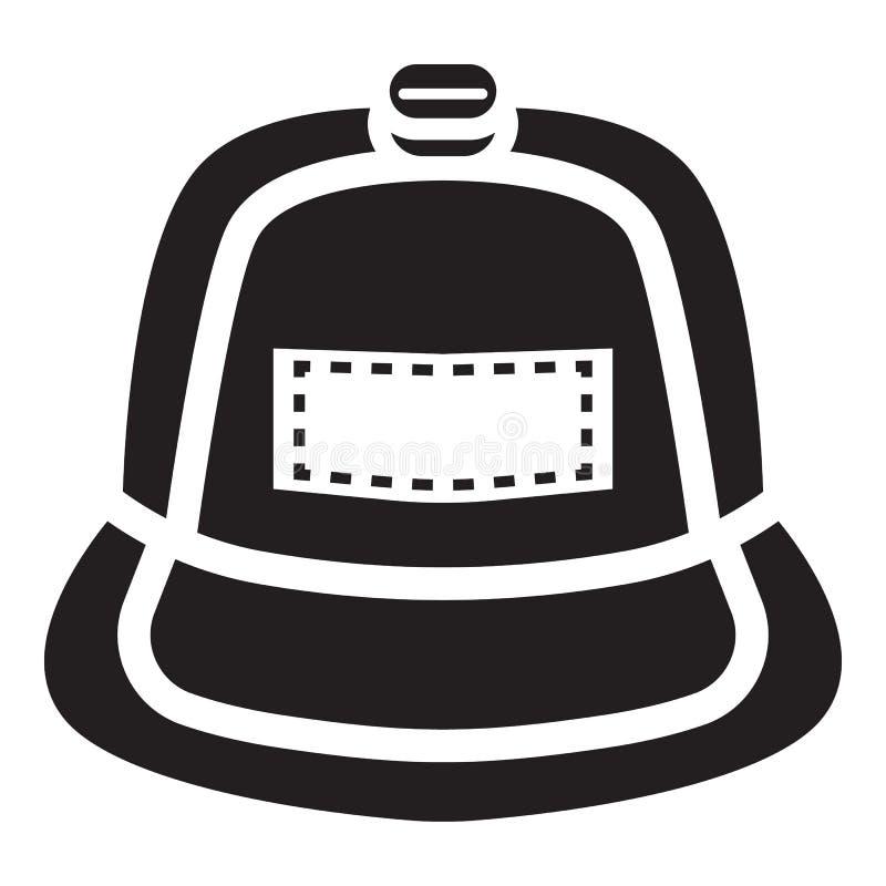Значок крышки рэпа, простой стиль иллюстрация штока