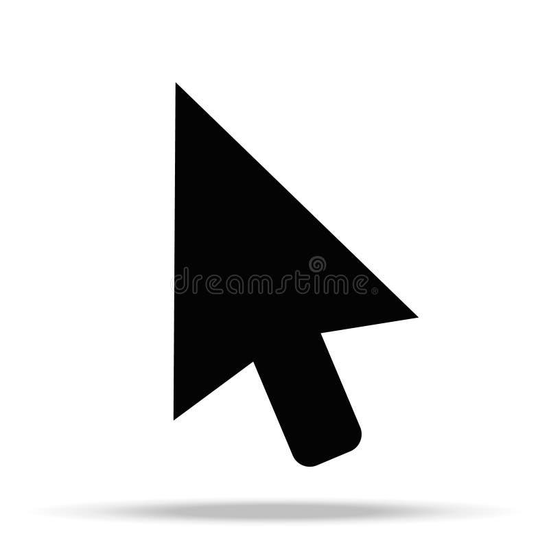 Значок курсора в ультрамодном плоском стиле изолированный на белой предпосылке Символ страницы значка курсора для вашего курсора  иллюстрация вектора