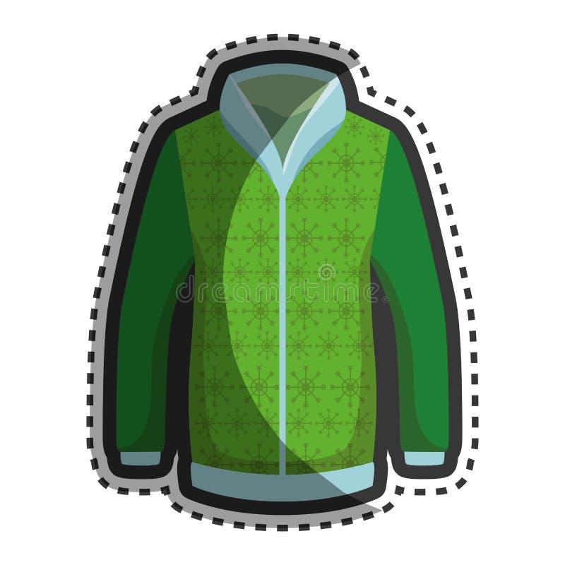 Значок куртки зимы моды иллюстрация вектора