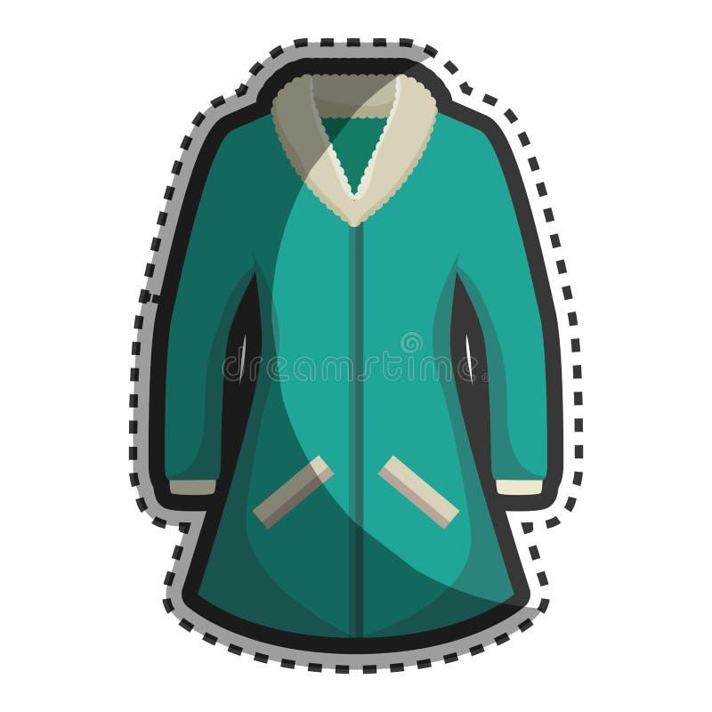 Значок куртки зимы моды бесплатная иллюстрация